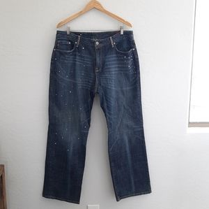 SEVEN7 Blue Embellished Limited Edition Jeans 18
